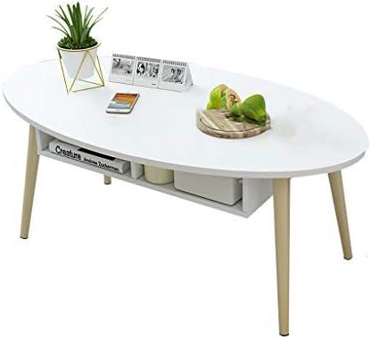 Verlaagde Prijs Saladplates-LXM salontafel kant elliptische schrijftafellade, wit  m8nQxmk