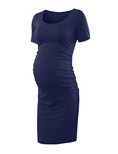 Isabella Oliver Maternity Dress - Peauty Maternity Dress for Baby Shower Navy M