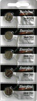 Energizer Batteries 344 / 350 (SR1136W, SR1136SW) Silver Oxide Watch Battery. On Tear Strip
