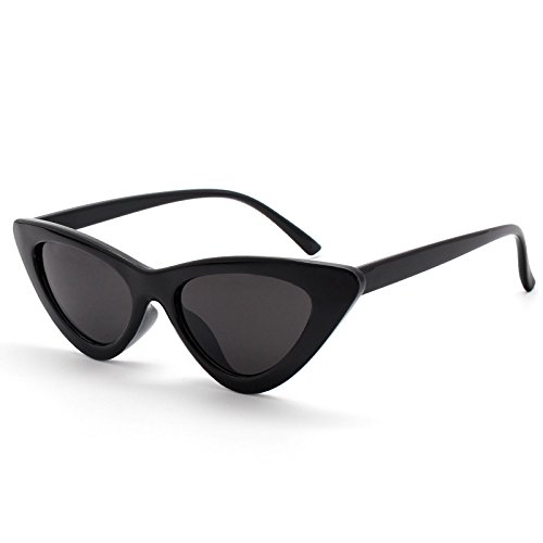 Livhò Retro Vintage Narrow Cat Eye Sunglasses for Women Clout Goggles Plastic - Cat Sunglasses