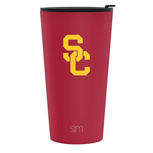 - Simple Modern 16oz Pint Tumbler - USC Trojans Vacuum Insulated 18/8 Stainless Steel Tailgating Cup Travel Mug - USC