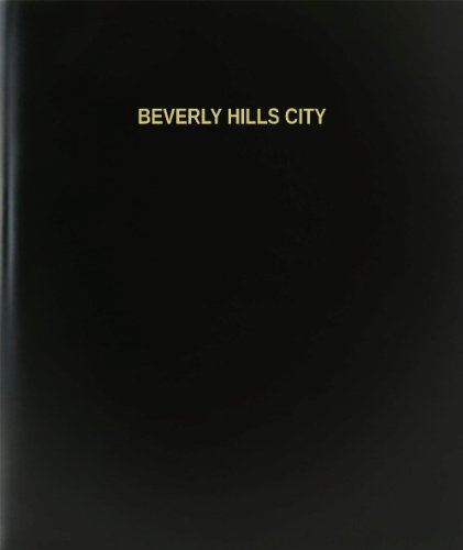 BookFactory® Beverly Hills City Log Book / Journal / Logbook - 120 Page, 8.5