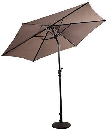 COSTWAY - Sombrilla de jardín, Parasol de Exterior, Paraguas de España, diámetro 300 cm, marrón: Amazon.es: Jardín