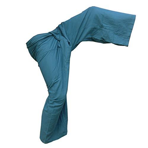 sky blue Amplio Pantalón Corte Panasiam Mujer Dunkel Para cWz8PFwYq