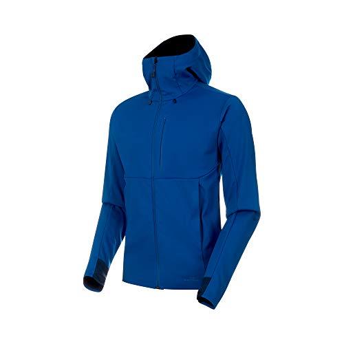 (Mammut - Men's Ultimate V SO Hooded Jacket, Surf-Black, Large)
