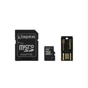 NEW - 8GB MULTI KIT / MOBILITY KIT. INCLUDES: SDC4/8GB, MRG2, WITH MICROSD TO SD ADAPT - MBLY4G2/8GB by Kingston