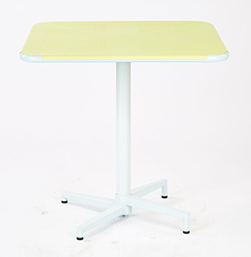 Work Smart/OSP Designs Albany 30'' Square Folding Table, Pastel Lemon by Work Smart/OSP Designs