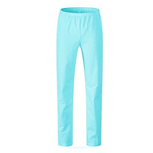 lavoro Donna pantalone femminile rosa Infermiera in In blu elastico vita medico elastica Vita pantaloni verde Verde in maiqu1983 bianco vita elastico cintura vita 80dwfwq