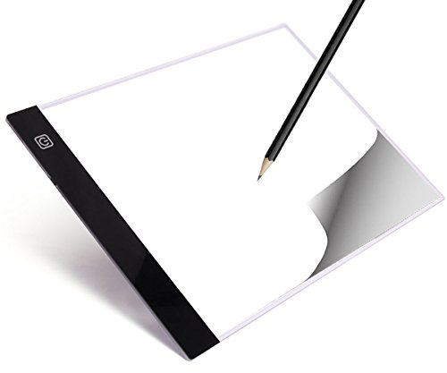 LED Tracing Light Table Portable Tracer Adjustable Illumination Panel A4 Ultra-thin 3.5mm USB Power Dimmable Artcraft Tracing Pad Box for Drawing, Designing Sketching, Animation, X-ray Viewing. -