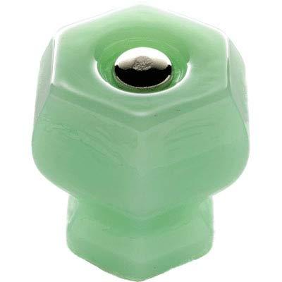 Jadeite Green Milk Glass Drawer Knob Pull Handle 1 1/4