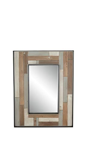 (Deco 79 Wall Mirrors, Large, Brown, White, Black, Gray)
