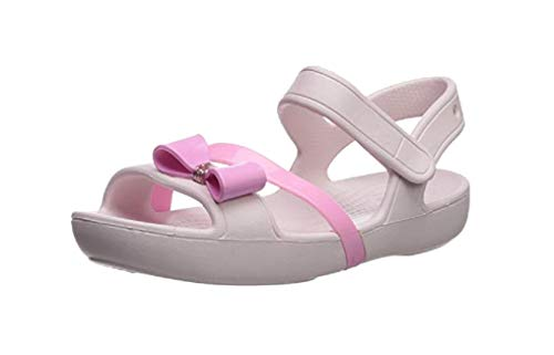 (Crocs Lina Charm Sandal Flat, Barely Pink 3 M US Little Kid)