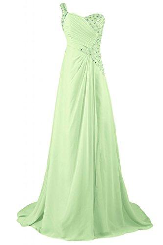 abito tracolla un abiti Gowns Salvia sera a Maxi scollo da d'onore elegante Sunvary da damigella fvwqI1I