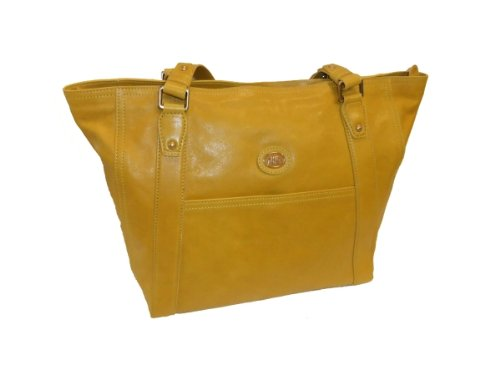 The Bridge Shoppertasche Leder 044133-11-41 gelb