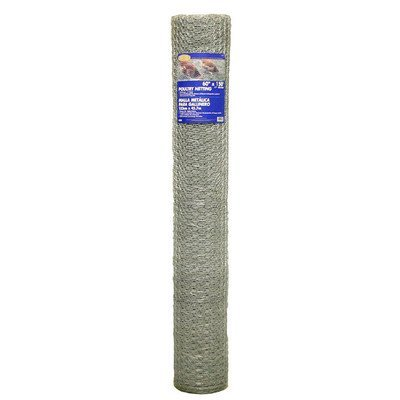 Mat 308435B 72-Inch by 150-Feet 1-Inch Mesh Galvanized Poultry Netting