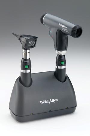 Ophthalmoscope Set Accessories (Welch Allyn 71811-MP 3.5V Halogen HPX Diagnostic Set, Panoptic Ophthalmoscope, 2 Nickel-Cadmium Batteries, IEC Plug Type-B, 100-240 VAC, 50-60 Hz)