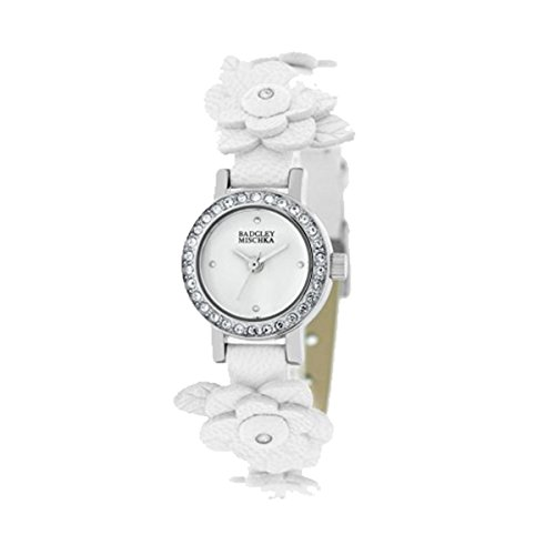 badgley-mischka-womens-ba1137wtwt-swarovski-crystals-silver-tone-flower-applique-white-leather-strap