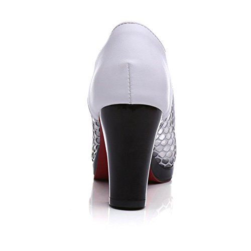 Adee Mujer Pantalones Sandalias de charol sandalias negro