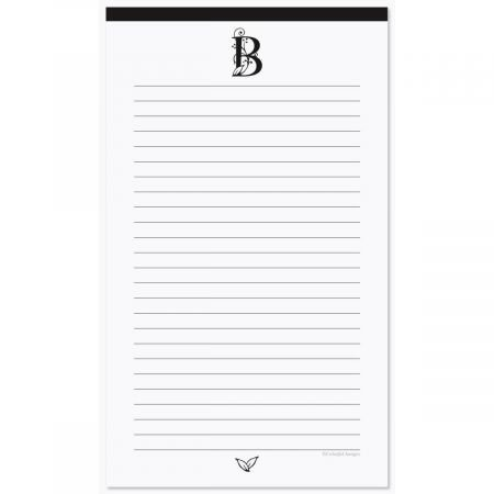 Formal Initial Notepad- 50 Sheet Personalized Memo Pad