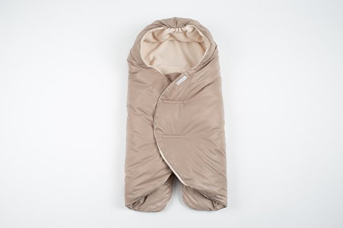 Quilted Stroller - 7AM Enfant Nido Quilted, Water and Wind Resistant, Stroller and Car Seat Baby Wrap (Beige, Small 0-6M)