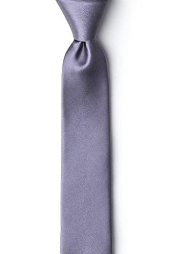 Medium Gray Medium Gray Silk Tie For ()