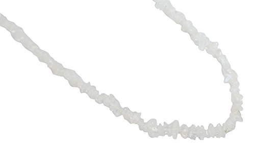 Ratnagarbha White Rainbow Gemstone Nuggets Uncut Chips Loose Beads, 34″ Strand, Jewelry Making, Wholesale Price, Prepared Exclusively by Ratnagarbha.