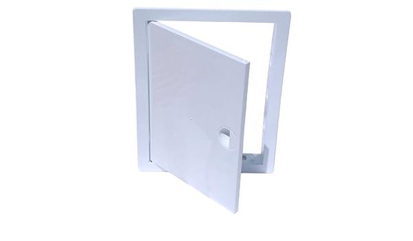 30/cm x 50/cm Awenta Tapa para revisi/ón pladur Revisi/ón Chapa de acero color blanco
