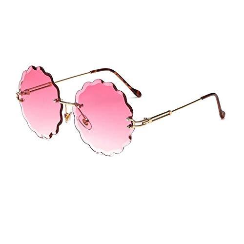 sol gafas la americanas de las europeas personalidad de NIFG Gafas de sin sol de las y flores de redondas marco 0wAEFwq