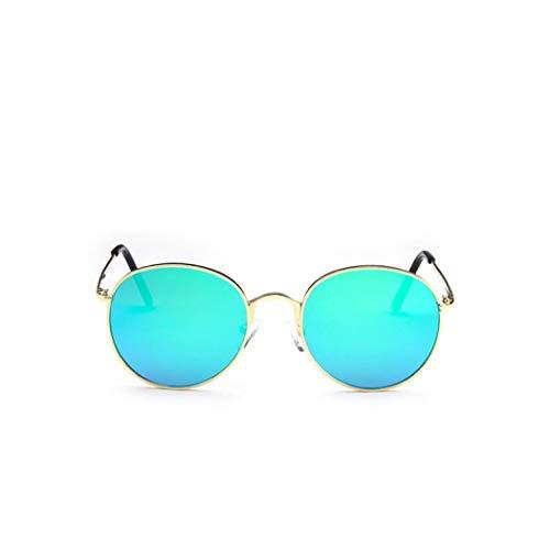 Lenses 5 Mirrored Sabarry Talla Gafas Sunglasses Mode única Hombre polarizado 1 Sol Unisex Redondo de Plateado Mujer w1zqwOr8