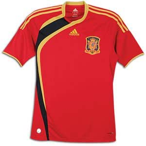 Spain 2009 Home Soccer Jersey