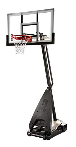 "Spalding NBA Hybrid Portable Basketball System - 54"" Glass Backboard"
