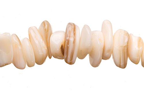 (White-Lip Sea Shells Nacre Nuggets Shell Beads Size:9x6mm)