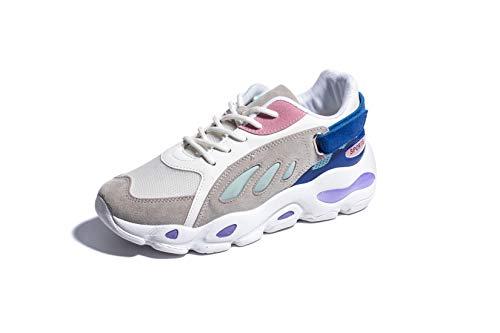 Malla De Zapatillas Atletismo Calzado Patchwork Para 35eu Running Azul Invierno Mujers Otoño Sneakers Lovelysi Casual Zapatos Chunky 40eu fitness Correr Deportivo Cordones 6SwqOPxEt