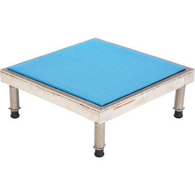 Vestil Adjustable Ergo-Mat Work-Mate Stand - 24in.W x 24in.D, 500-Lb. Capacity, Aluminum, Model# AHT-H-2424-A by Vestil