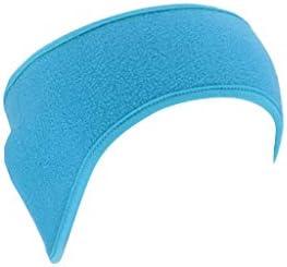 Sikye Fitness HeadbandWinter Polar Fleece Ear Warmer for Men Women Ski Ear Muff Hair Band (F)
