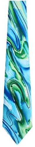 JG-XL-6219 - Jerry Garcia Extra Long Silk XL Big and Tall Designer Necktie - Tie Necktie Garcia