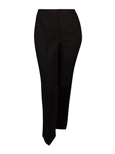 Kasper Women's Solid Straight Leg Dress Pants (6, (Crepe Straight Leg Pants)