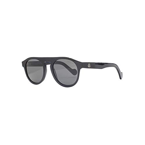 DARK BLACK GREY Sol Gafas SHINY Moncler ML0073 de unisex RBHTRxqwY