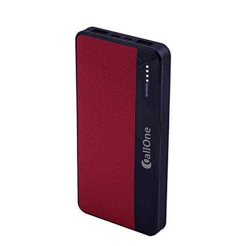 10000mAh Leather Polymer Power Power 2USB Fast Charging Port  Callone