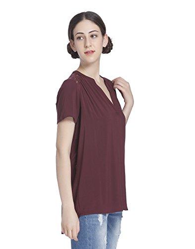 JACQUELINE de YONG - Camisas - para mujer burdeos