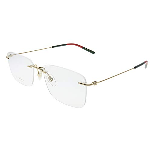 Gucci GG 0399O 002 Light Gold Metal Rimless Eyeglasses 56mm (Gold Gucci)
