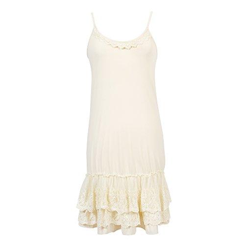 Cream Slip Dress - 4