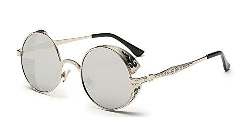 Verde Ronda TL la Gafas Sunglasses de Oro Sol silver Sol Las silver Volver Gafas de Vintage de de Mujer pEaES