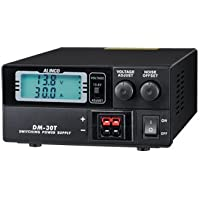 Alinco DM-30 Compact Digital Power Supply 20A Continuous 30A Surge 9-15VDC Variable with Powerpole Connectors and Illuminated Volt/Amp Meter.