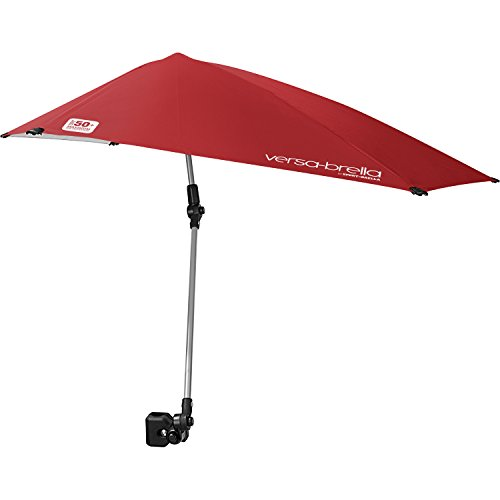 Sport-Brella Versa-Brella 4-Way Swiveling Sun Umbrella (Firebrick Red) (Soccer Sports Outdoors Sporting Goods)
