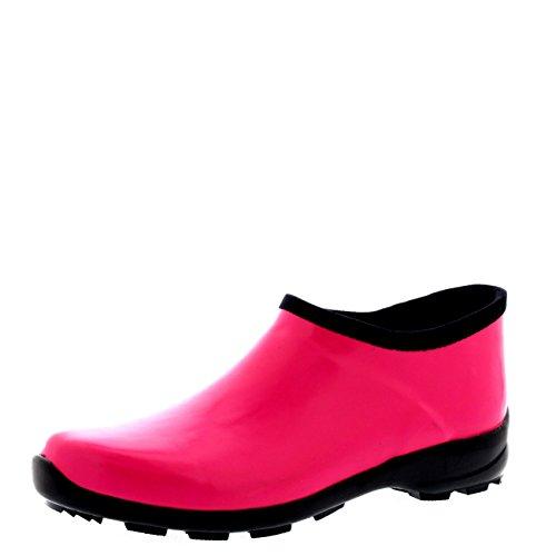 De Glosar Welly Caucho Nieve Oscuro Botas Jardín Goma Zapato Lluvia Mujer Fushia Bota 8Eq5wdq