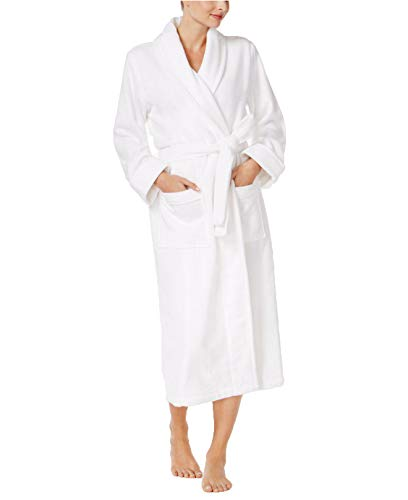 - Charter Club Women's Luxe Cotton Terry Long Wrap Robe, Bright White, X-Large