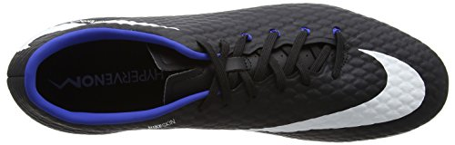 Nike Hypervenom Phelon III FG, Scarpe da Calcio Uomo Nero (Black/White-dark Grey-game Royal)