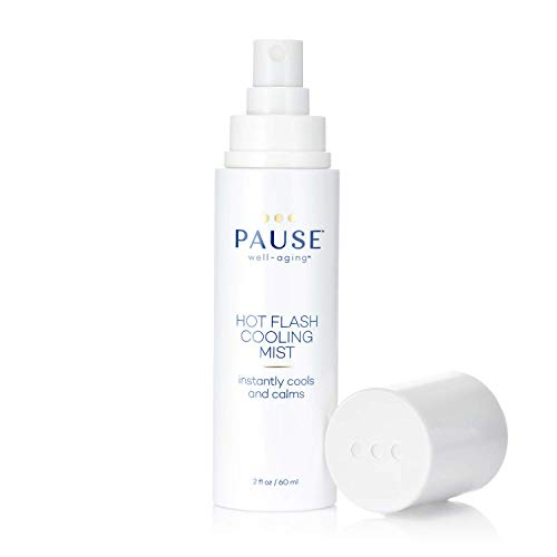 Pause Hot Flash Cooling Mist | Calming Mist Spray for Cooling Skin, Reducing Redness, Relieves Hot Flashes, Evaporating Sweat, Supports Collagen Production, Tones Skin, 2 fl oz/60 mL