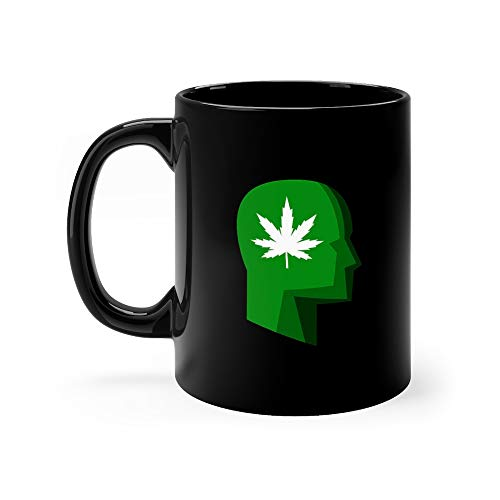 Profile Marijuana Stylized Smoke Weed Water Mug Ceramic Cups 11 Oz